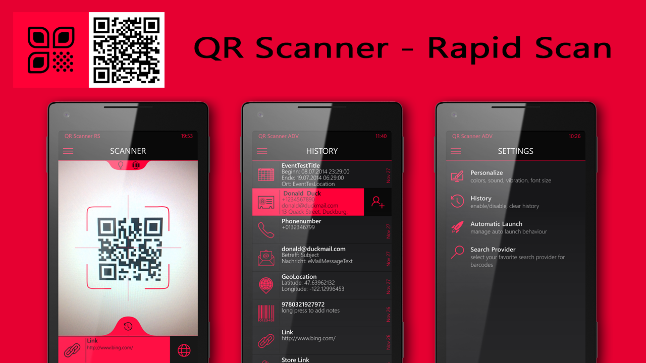 Developer Submission Qr Scanner Rapid Scan New For W10m Updated For Wp8 1 Free Codes Mspoweruser